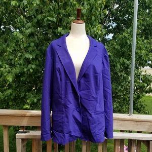 Lane Bryant Blue Plus Blazer